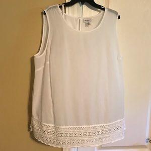 Liz Claiborne white shirt sleeve blouse